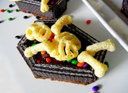 Halloween Coffin Cake by Sugar Swings Serve Some Coffin And Skeleton Mini Cakes