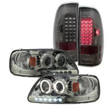 2002 ford f150 tail lights ford f150 1997 2003 smoked projector headlights and led tail lights