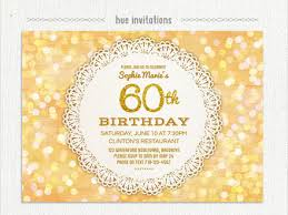 20 ideas 60th birthday party invitations card templates 60th bday