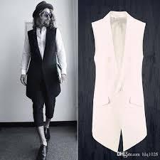 fashion men suits dress vest men slim sleeveless coat men casual