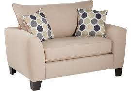 Beige Club Chair Beige Chairs Fabric Microfiber Living Room