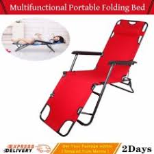 Portable Folding Bed Chaise Lounge Portable Folding Bed Adjustable Bed 178 60 88cm