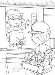 pin karen ho handy manny coloring pages