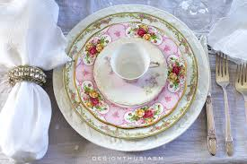 how to set a beautiful table with vintage china