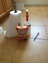 Cleaning Grout With Vinegar Making Old Discolored Grout Look Like New Grout House And Grout