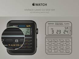casio apple watch concept sketch freebie download free resource