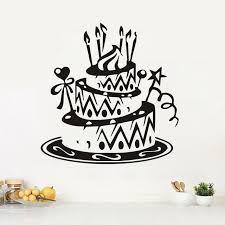 anniversaire cuisine décoration de la maison cuisine gâteau d anniversaire stickers