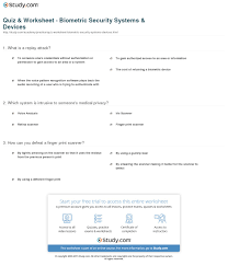Lightly Definition Quiz U0026 Worksheet Biometric Security Systems U0026 Devices Study Com