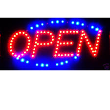 shop open sign lights led signs for home store or business