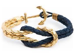 leather bracelet knots images Gold navy knot anchor leather bracelet by kiel james patrick jpeg