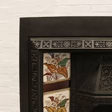 antique victorian tiled fireplace insert decorative collective