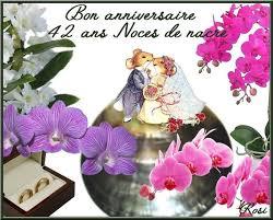 42 ans de mariage ans de mariage bon anniversaire noces de nacre