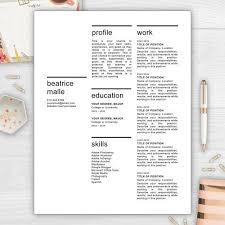 9 best monogram resume templates images on pinterest monogram