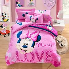 Minnie Mouse Twin Comforter Sets Beautiful Pink Love Minnie Mouse Full Doona Cover Bedding Sets