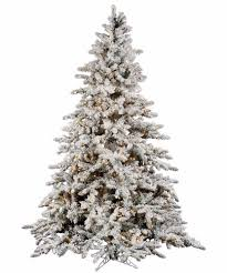 9 ft pre lit christmas tree flocked white on green holiday 1200