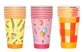 party cups stacked party cups stock illustration illustration of cutout