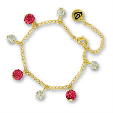 jewelry bracelet charms images Crystal ball charm bracelet kids jewelry 18k gold plated little jpg