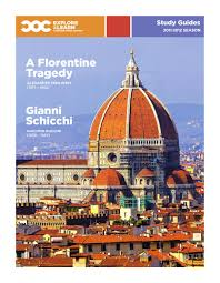 a florentine tragedy u0026 gianni schicchi study guide by canadian