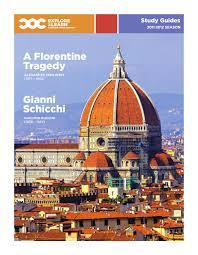 a florentine tragedy u0026 gianni schicchi study guide by canadian