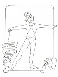 coloring pages for kids gymnastics free sport coloring pages of