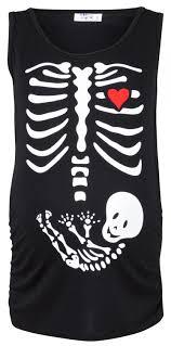 Halloween Skeleton Pregnancy Shirts Happy Mama Women U0027s Maternity Halloween Baby Skeleton T Shirt Top