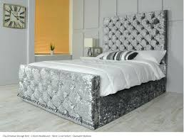 King Size Padded Headboard Size Upholstered Bed Vino Black Modern Bed With Upholstered