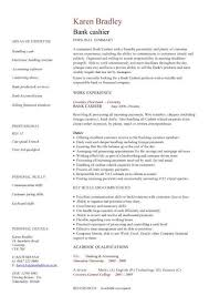Personal Banker Job Description For Resume by Bank Cashier Cv Sample Excellent Face To Face Communication