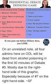 Meme Drinking Game - 25 best memes about presidential debate drinking game