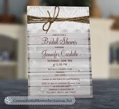 custom bridal shower invitations rustic bridal shower invitations custom bridal shower invitations
