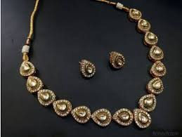necklace simple images Pan shape kundan necklace set jpg