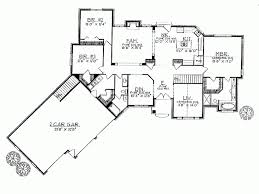 Free Single Garage Plans by Single Story House Plans Angled Garage Homes Zone