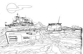 coloring page class u submarine