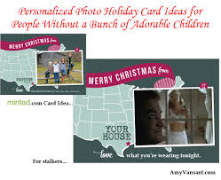 personalized photo holiday card ideas for people without a bunch