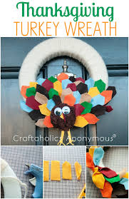 craftaholics anonymous thanksgiving craft a turkey wreath