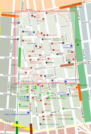 detailed map of new york city of new york new york map nolita detailed map
