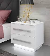 White Bedside Table White Bedside Cabinet Table Free Led High Gloss