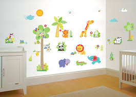 Nursery Stickers Fisher Price Rainforest Nursery Wall Sticker Kit With Height Chart