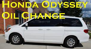 honda odyssey oil change 2007 2010 youtube