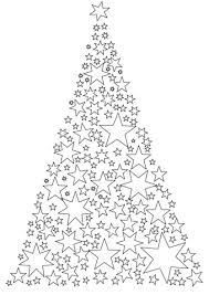 christmas tree stars coloring free printable