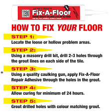 Fix Floor Tiles Fix A Floor Extra Strength Bonding Adhesive For Loose And Hollow