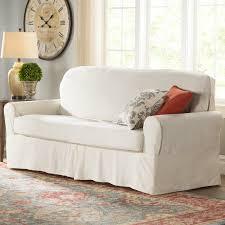 Denim Slipcover Sofa by Darby Home Co Box Cushion Sofa Slipcover U0026 Reviews Wayfair