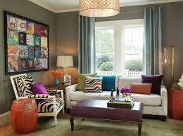 Orange Curtains For Living Room Living Room Purple Ottoman Orange Pouf Semi Flush Lighting Blue