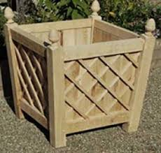 wrekin wooden garden planters