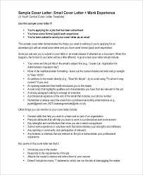 email cover letters cover letter cover letter template for format