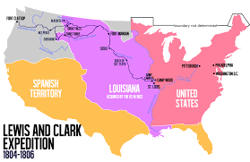 St Louis Map Usa by Lewis And Clark Expedition Wikipedia