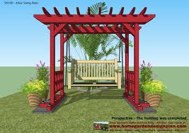 home garden plans sw100 arbor swing plans swing woodworking