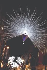 bond street festive illuminations pay homage to the peacocks of