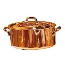 ustensiles de cuisine en cuivre cocotte cuivre inox d24 couvercle en vente sur cuisine addict