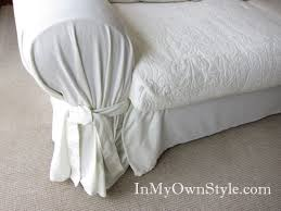 Washing Chenille Sofa Covers How To Cover A Chair Or Sofa With A Loose Fit Slipcover In My