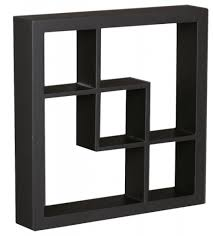 floating black shelves shop decorative cube wall shelves products on houzz black cube